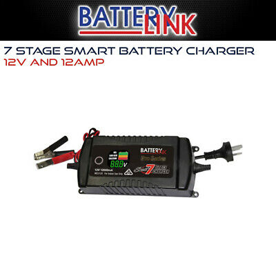 D250S battery link DC Battery Charger 12V 12 Amp Caravan Car Deep Cycle AGM