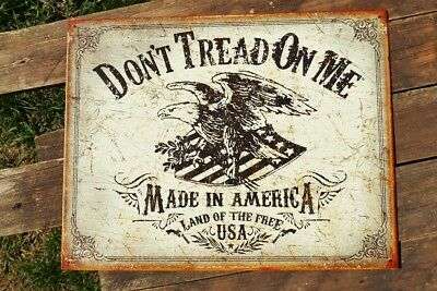 Don't Tread On Me Tin Metal Sign - American Revolutionary War - Made in America
