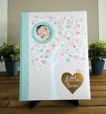 CR Gibson Pink Little Love Baby Girl Memory Keepsake Book 1st 5 Yrs Heart Tree