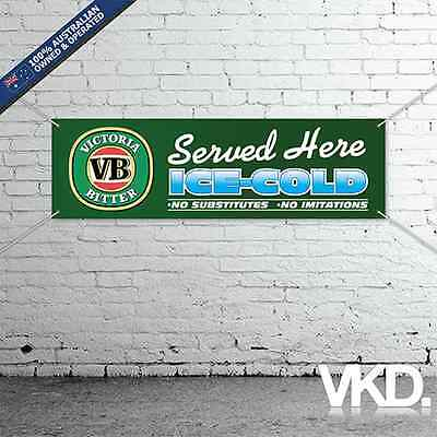 VB Banner - For Man Cave Work Shop Garage Shed Bar Beer Vic Bitter Sticker Flag