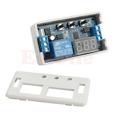12V LED Multifunction Self-lock Relay PLC Cycle Delay Time Timer Switch Module
