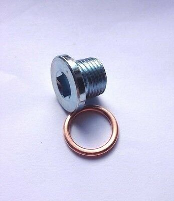 Oil Pan Drain Sump Plug M16x1.5mm + Folded Copper Washer - PN002 - Renault