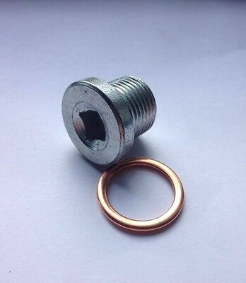 Oil Pan Drain Sump Plug M18x1.5mm + Folded Copper Washer - PN003
