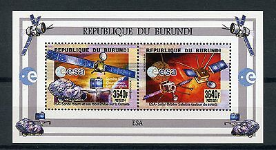 Burundi 2014 MNH ESA Satellites 2v M/S Space Rosetta Mission Philae Orbiter