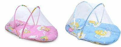 New Infant Baby Mosquito Net Tent Mattress Cradle Bed Canopy Cushion + Pillow