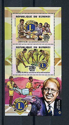 Burundi 2014 MNH Lions Club International 2v Deluxe M/S Scouts Scouting