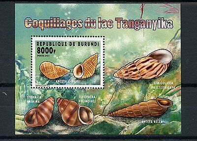 Burundi 2014 MNH Seashells of Lake Tanganyika 1v S/S I Shells Coquillages