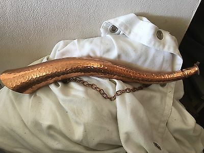 Original Antique Hand Crafted Engraved Brass Copper Blowing Horn