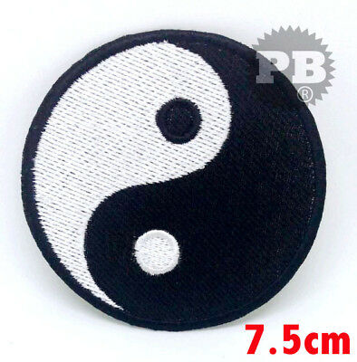 Yin and Yang Embroidered Iron / Sew On Patch Symbol Sign Logo Clothes Badge