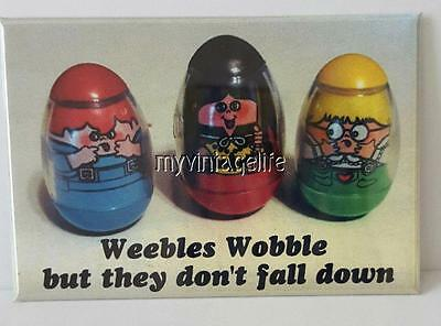 "WEEBLES WOBBLE BUT THEY DON'T FALL DOWN 2"" x 3"" Fridge MAGNET NOT TOYS"