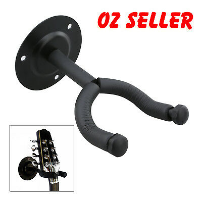 New Guitar, Bass, Ukulele Wall Hangers foam padded hook Mount Holder OZ