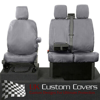 FORD TRANSIT TOURNEO 2013 + Impermeable a medida FRONT ROW FUNDAS ASIENTO GRIS