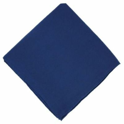 Plain Silk Navy Handkerchief by Michelsons of London