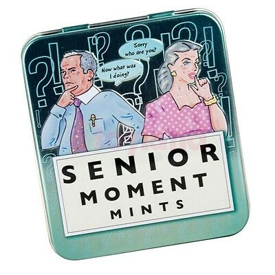 Senior Moment Mints Tin Office Secret Santa Gift Fathers Day Birthday Party Bag