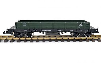 Train Low-sided wagon, green, G Scale, Stainless steel wheels, for LGB