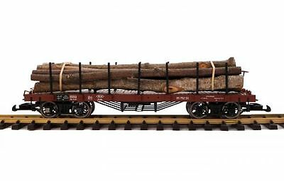 Zenner Real wood transporter G Scale with Liliput flat wagon LüP 425mm