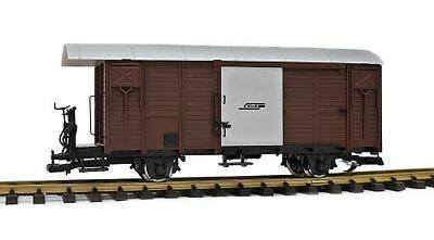 Zenner cover freight car RhB Gbk-v,brown G Scale,Stainless steel wheels,for LGB