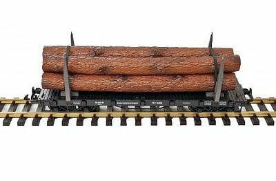 Zenner Stake wagon Flat wagon with 2 Iron stanchions G Scale
