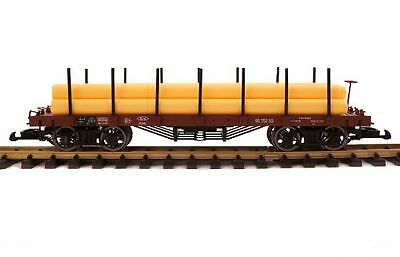 Zenner Flatcar with yellow Gas pipes G Gauge for LGB