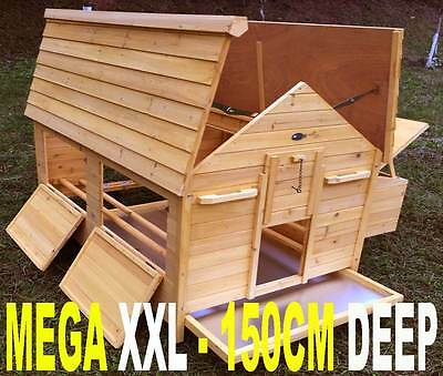 Mega Large Chicken Coop Run Hen House Poultry Ark Home Nest Box Coup Coops New