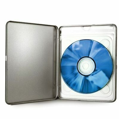 10 ESTUCHES / CAJAS METALICAS SIMPLES - 1 BLURAY - 11 mm - PLATEADAS - STEELBOOK