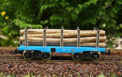 Zenner Stake wagon Bogie for LGB , Tree trunks, 4 Metal wheel sets, G Scale