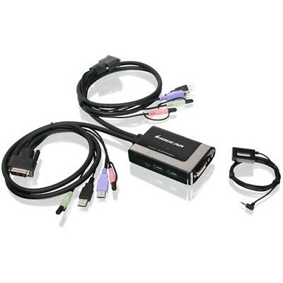NEW IOGear GCS932UB KVM Switch Switchbox 2 port USB DVI D w Audio