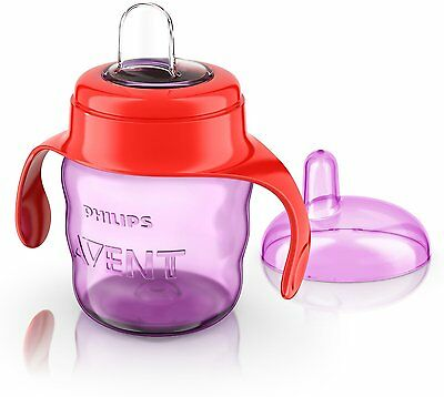 Philips Avent Easy Sippy Spout Cup w/ Handle (200 ml, Pink) BPA Free - FREE P&P