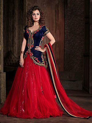 Indian Designer Ethnic Lehenga Long Anarkali Dress Wedding Bollywood Party