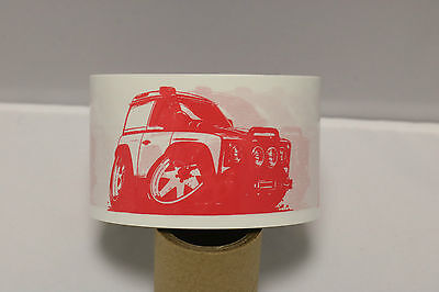 Koolart Cartoon Design For Land Rover Enthusiast 50mm Packing Tape Red/White