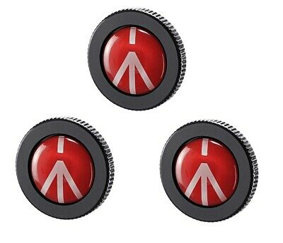 Manfrotto Quick Release Plate for Compact Action Tripod (3-Pack)