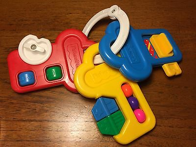 Vintage 1994 Fisher Price Activity Keys Key 1084 Baby Toy Rattle Spinner Teether