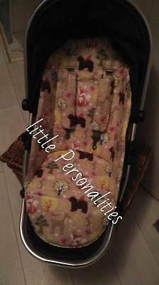 animal icandy peach pram pushchair liner and harness pads foam padded