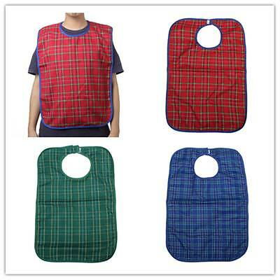 Large Waterproof Adult Mealtime Bib Protector Disability Aid Clothes Washable *