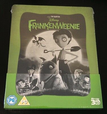 FRANKENWEENIE 3D & Blu-Ray SteelBook Zavvi UK Exclusive Region Free New OOP Rare