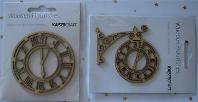 U Choose) 2 Chippies ~ Ornate Clock or Roman Clock Face ~  Scrapbook Card Making