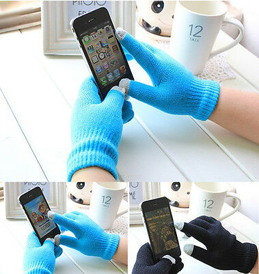 Magic Touch Screen Gloves Smartphone Texting Stretch Unisex One Size Winter Knit