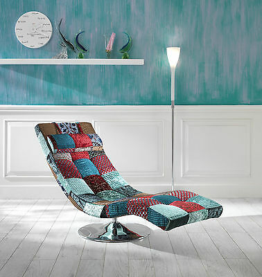 Chaise Longue Design Patchwork Vintage Industriale Shabby Chic Etnica Glamour