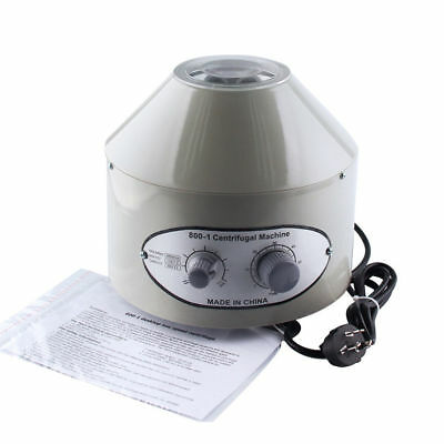 Newest Electric Centrifuge Lab Medical Practice Timer 4000 rpm 20 ml x 6 220V