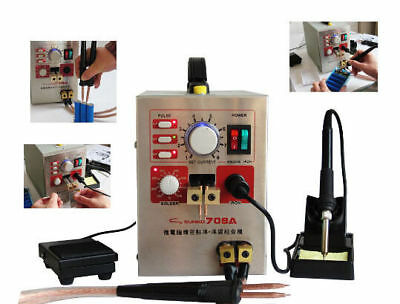 2in1 18650 Battery Spot Welder Soldering Micro-computer Pedal control 1.5KW 220V