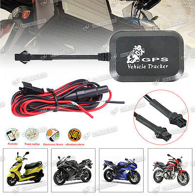 Real Time Vehicle GPS Tracker Bike Motorcycle Tracking Device Locater Alarm UK