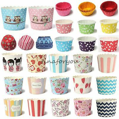 25~600x Utility Cake Baking Paper Cup Cupcake Muffin Cases fit Party Home