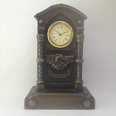 Antique Vintage Heavy Brass Metal Decorative Analogue Clock