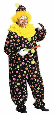 Halloween Lifesize CIRCUS CLOWN NEON DOTTED Adult Men Costume Haunted House