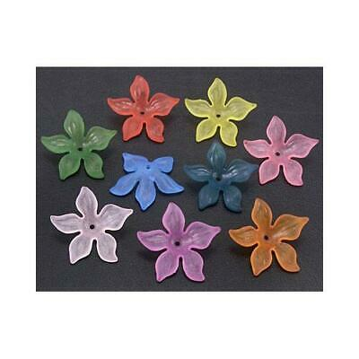Lucite Flower Beads 7 x 27mm Mixed 20 Pcs Art Hobby DIY Jewellery Making Crafts