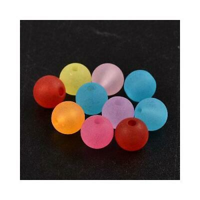 Lucite Round Beads 8mm Mixed 60+ Pcs Art Hobby DIY Jewellery Making Crafts