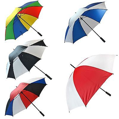 Large Unisex Golf Umbrella Windproof Strong Canopy Wind Rain Sun Shield Brolly