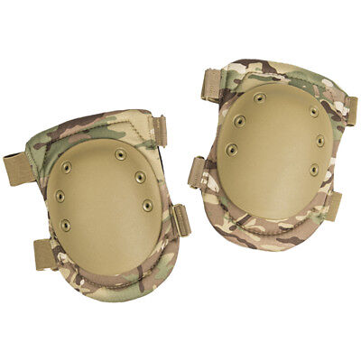 Mil-Tec Paintball Army Tactical Hard Heavy Duty Knee Protection Pads Multitarn
