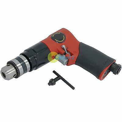 "Heavy Duty 3/8"" 1800RPM Reversible Air Powered Drill Tool 90PSI With Chuck Key"