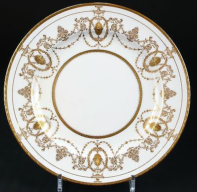 11 Minton for Tiffany Neoclassical Style Plates, gilded, gilt